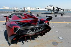 Lamborghini Veneno Roadster Makes Public Debut…On A Massive Italian Aircraft Carrier! Hit the pic to find out more.