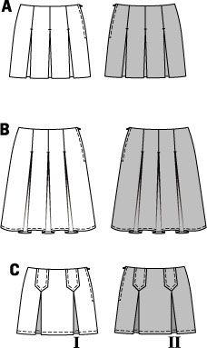Simplicity Creative Group - Burda Style, Skirt B8118