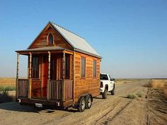 This tinyhouse is 89 sq. ft. I would love to travel america with one of these someday! Just hook up a truck and good to go!!