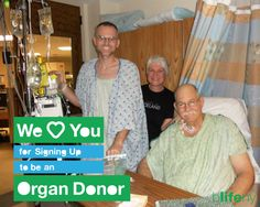 Mick not only supports organ donation, he LIVES organ donation. His Dad loves him for being an organ donor!