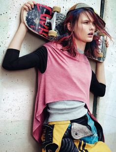 she was a skater girl: lara mullen by sharif hamza for dazed & confused august 2012