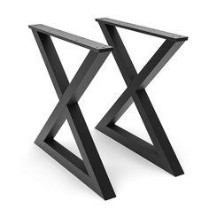 Steel Dining X Table Legs 28 Quot X Frame Wide Flat Steel