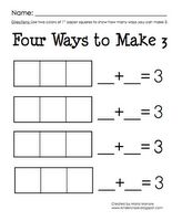 Decomposing numbers, Math common core Kinder. Student practice.