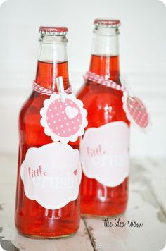 Homemade Valentines:  Crush Bottles  by:  the idea room