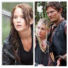 If Daryl and Beth had a baby it would be Katniss. She's uses bow and arrows like Daryl and sings like Beth.