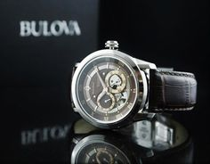 From Bulova Automatic Collection Self-winding mechanical timepiece with movement Leather Band Bulova, 21st, Jewels, Band, Leather, Accessories, Collection, Sash, Jewerly
