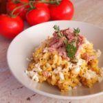 Těstoviny se smetanovou omáčkou a tuňákem | Prudce Jedlé