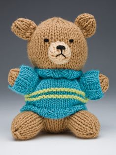 Teddy Bear Knitting Patterns- In the Loop Knitting Knitting Bear, Teddy Bear Knitting Pattern, Animal Knitting Patterns, Knitted Teddy Bear, Crochet Teddy, Crochet Bear, Stuffed Animal Patterns, Knitting Toys, Loom Knitting