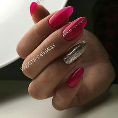 17 Top Trendy Glitters Nail Art Ideas Design and Colors Latest Nail Art, Trendy Nail Art, Cool Nail Art, Pink Nail Art, Glitter Nail Art, Purple Nails, Soft Nails, Fun Nails, Pretty Nails
