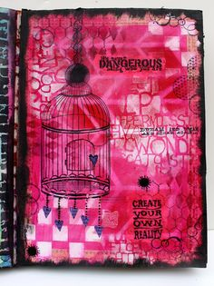 Click any photo to enlarge. I love using bits of tissue paper in my journals... when you stamp on tissue paper with archival ink, you can adhere it to your journal page using matte medium or gel m...