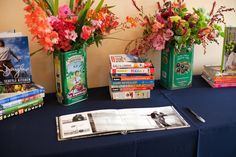 traveled themed guest book table