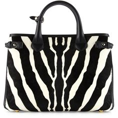 Burberry Banner Medium Animal-Print Calf Hair Tote Bag ($2,720) ❤ liked on Polyvore featuring bags, handbags, tote bags, natural, zip tote, zebra tote bag, tote handbags, burberry tote and animal print tote