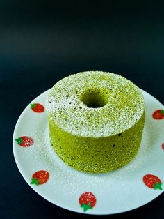 #peonies Matcha /Green tea Chiffon cake 5.jpg by Hot from my oven, via Flickr   Light japanese cake. Delicious. We're cooking @ilovepeonies.com