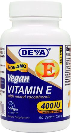 Deva Vegan Vitamin E with Mixed Tocopherols