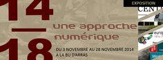 Bandeau Expo 14/18 une approche numérique BU Arras novembre 2014