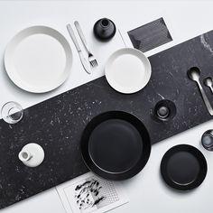 iittala Teema Black Dinnerware Iittala Teema was designed by Kaj Franck in yet it remains a timeless essential for the modern home today.