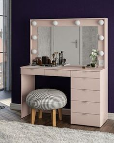 modern dressing table designs for bedroom 2019 Modern Dressing Table Designs, Dressing Room Design, Dream Furniture, Furniture Design, Room Ideas Bedroom, Bedroom Decor, Ikea Girls Room, Wadrobe Design, Rangement Makeup