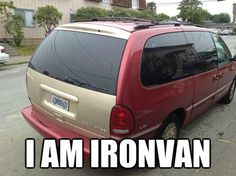 Check out this funny photo of a minivan with the caption, 'I AM IRONVAN,' on NickMom.com!