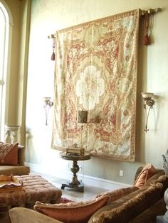 Rug Wall Hanging In Clients Living Room By Kathleen Jonick Interiors
