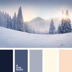 Posee un encanto especial. El beige, el gris claro y el blanco leche dan una impresión de frescura y limpieza. Contrastan muy bien con el azul grisáceo. Tal gama de color es muy buena para decorar habitaciones con mucha luz solar.