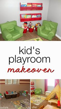Easy Kid's Playroom Makeover on TheHowToCrew.com