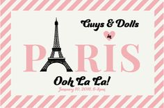 Logo Customization Design: Guys & Dolls Paris Horizontal