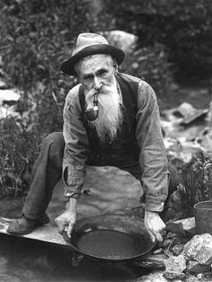 Gold panning with a pipe.  #blackandwhite #pipe  Goodfellas Cigar Shop