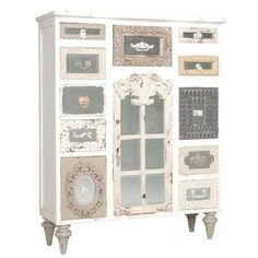 Vintage tall dresser.
