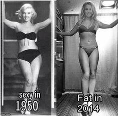 Sexy 1950 vs. Fat 2014