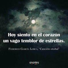 Federico García Lorca. Canción otoñal.