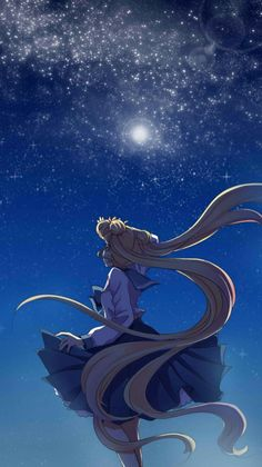 beautiful sailor moon fan art looking up at the moon usagi drawing sketch painting Sailor Moons, Sailor Moon Crystal, Sailor Moon Usagi, Sailor Venus, Sailor Jupiter, Sailor Moon Kunst, Sailor Moon Fan Art, Sailor Moon Personajes, Sakura Card Captor