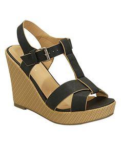 Black Basket Weave Wedge Sandal #zulily #zulilyfinds