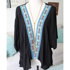 Open Kimono Style Top Perfect for warmer days where you need light and cute layers to put over your cute sundresses or jeans and a shirt. This gauzy-like fabric is lightweight and super comfortable to wear. Wet Seal Tops