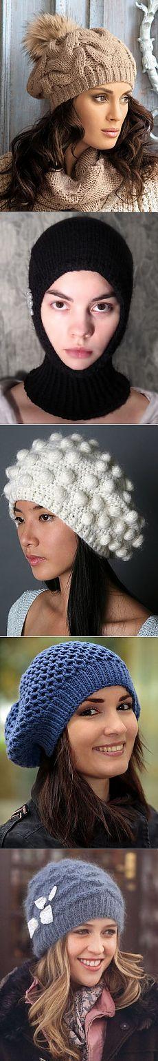 Модные шапки-2015  фото модных вязаных женских шапок для зимы 2015 года  Gorros Para 996014830b2
