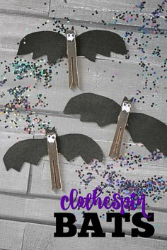 Pinza de la ropa Bat - Kid Craft Idea