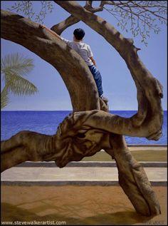 """Steve Walker. """"Boy In a Tree"""" @ Steve Walker. Artist"""