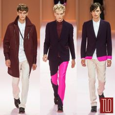 Paul+Smith+Spring+2014+Menswear+Collection make that black blazer with pink details