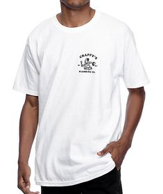 Get Crappy's to deal with all of the shitty problems life gives you with the Crappy's Plumbing white t-shirt for guys from A-Lab that has a classic cotton construction for comfort and black graphics advertising Crappy's Plumbing printed at the left chest Design Your Own Tshirt, Shirt Print Design, Shirt Designs, Oversized Tshirt Outfit, My T Shirt, Tee Shirts, Urban Outfit, Design Kaos, T Shirt Branca