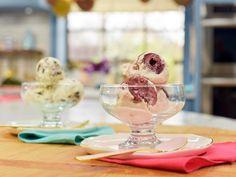 Get No-Churn Cherries 'n' Creme Ice Cream Recipe from Food Network