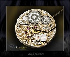Adone Galleries / EngravingArts, Fine Watch Engraving on a 6497 ETA movement