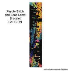 Bead Loom and Peyote Stitch Bracelet Pattern by PalacePatterns