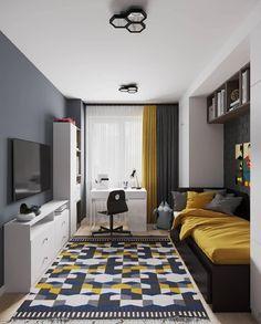 Kids Room Design, Home Room Design, Home Office Design, Small Room Bedroom, Bedroom Decor, Bedroom Ideas, House Rooms, Interior Design Living Room, Case