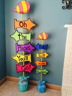 Giant Oh The Places You'll Go Sign by SwitzersSweets on Etsy