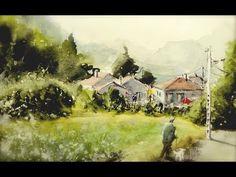 Village landscape - YouTube
