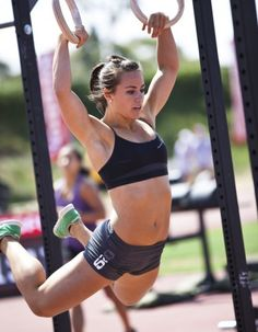 """Girl crush: Camille Leblanc Bazinet  (5'2"""" 125lbs, this former gymnast can pull a 330# deadlift and do 75 consecutive pull ups. yowza.)"""