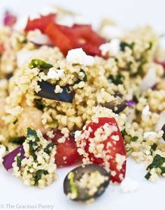 Clean Eating Greek Couscous Salad ~ http://www.thegraciouspantry.com