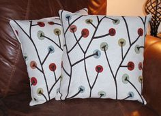 Throw Pillow Covers  16x16 Set of 2 Twizzler by PersnicketyHome