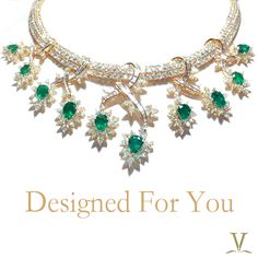 The amalgamation of emerald and diamonds to create magnificent jewels