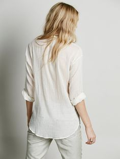 Free People FP ONE Rhythm of Love Buttondown at Free People Clothing Boutique