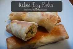 Baked Egg Rolls | One of my husband's favorites. He requests these all the time. Easy, flavorful, and healthy!